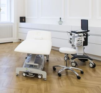 Ultrasound-guided biopsies are performed in the doctor's office.